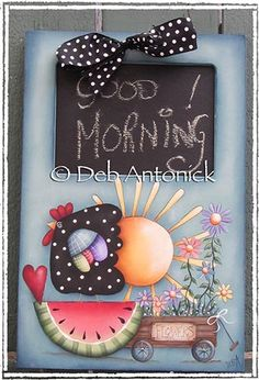 Free Tole Painting Patterns Chickens | The Decorative Painting Store: Good Morning...!, Newly Added Painting ...