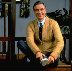 Mr. Rogers' Neighborhood. I always like watching him put on his shoes lol
