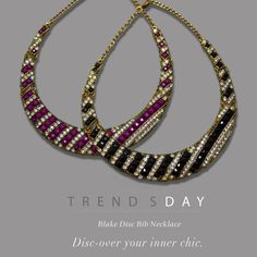 Are you down with the bib necklace trend? What I love about our Blake bib is that she looks just as great with a high or low neckline. Check out today's Trendsday!