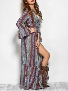Printed Maxi Bohemian Dress