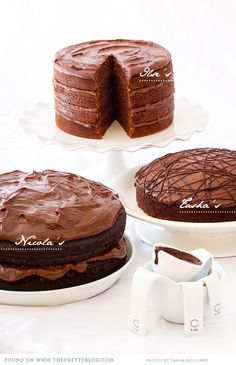 3 Chocolate Cake Recipes