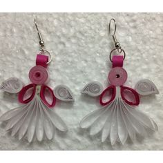 Angel Shaped Quilling Ear rings