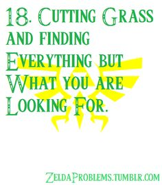 18. Cutting grass and finding everything but what you are looking for