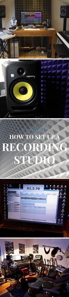 Step by step instructions on how and where to set up a home recording studio.