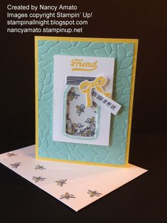 Stampin' Up! Jar of Love, Stampin' All Night: Who Doesn't Love NEW Stamps? RemARKable Stampers Blog Tour