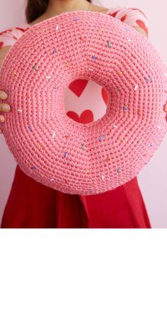 Donut Pillow   crochet today