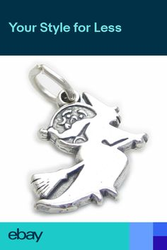 fe82c593723 Witch sterling silver charm .925 x 1 Halloween Witches charms CF49861