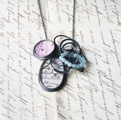 Double Chatter pendant   Contemporary Necklaces / Pendants by contemporary jewellery designer Clare Hillerby