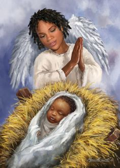 Marcello Corti – African American Angel and Baby Black Love Art, Black Girl Art, Black Is Beautiful, D N Angel, Angel Art, Angel Wings, Black Art Painting, Black Artwork, African American Art