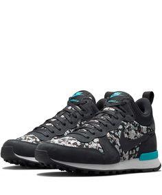 Nike x Liberty Dark Grey Belmont Ivy Liberty Print Internationalist Mid Trainers | Shoes by Nike x Liberty | Liberty.co.uk