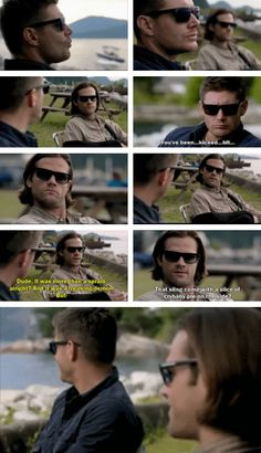 [gifset] Spoilers 10x04 Paper Moon #SPN #Dean #Sam LEGIT LOVED THIS SCENE. FOR A MOMENT THEY WERE NORMAL AND HELL EVEN FASHIONABLE. .. but they are the winchester's... they couldn't go without a hunt haha