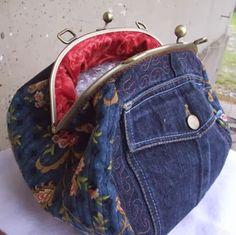 denim pocket purse