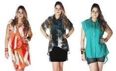 Resultado de imagem para moda feminina PLUS SIZE Moda Feminina Plus Size, Moda Plus Size, Ideias Fashion, Cover Up, My Style, Dresses, Fashion Hacks, Women's, Templates