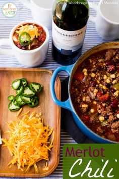 This Merlot Wine Chili #recipe is a must-make this winter! A totally easy and delicious recipe you'll make again and again!