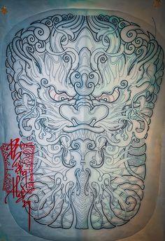 Tatto Ink, Back Tattoo, Japanese Artwork, Japan Tattoo, Back Pieces, Lunges, Blackwork, Buddha, Oriental