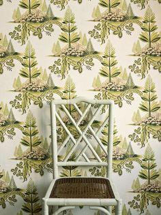 Fir trees Zoffany wallpaper