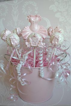 Chocolate cake pops for the little Ballerina Princess xxx