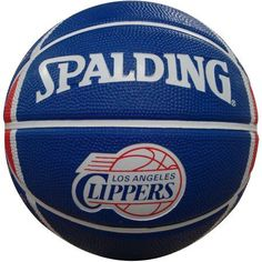 Spalding NBA 7 inch Mini Basketball, Los Angeles Clippers, Blue