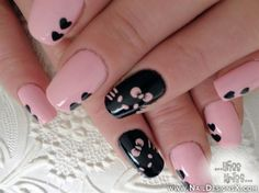 pink nail design » Nail Designs & Nail Art