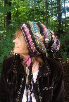 knit hat soft and warm autumn handknit art yarn by beautifulplace, $70.00