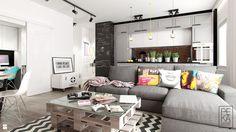 Salon styl Industrialny - zdjęcie od PEKA STUDIO - Salon - Styl Industrialny - PEKA STUDIO