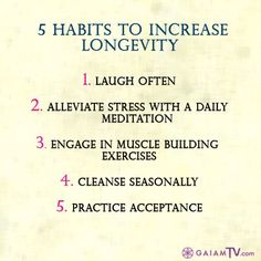 "For more longevity secrets, watch our newest documentary, ""How To Live Forever,"" on GaiamTV.com! http://www.gaiamtv.com/video/how-live-forever"