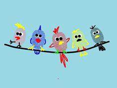 fingerabdruck bilder vögel auf draht
