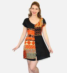 Vintage summer dress. Mini shirt dress in black by ChickClassique, $32.00