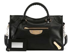 Balenciaga Metal Plate City AJ Satchel Bag