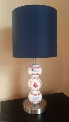 Boston Red Sox Fan Custom Baseball Lamp by ChristyVsCreations on Etsy