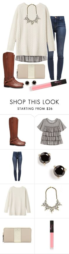 """""""glam"""" by madixoxo21 ❤ liked on Polyvore featuring Tory Burch, H&M, J Brand, Kate Spade, Toast and NARS Cosmetics"""