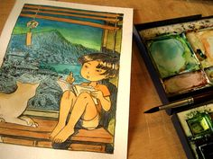 Atelier Sentô Indie Games, Cave, Coloring, Coral, Princess Zelda, Watercolor, Fictional Characters, Atelier, Pen And Wash