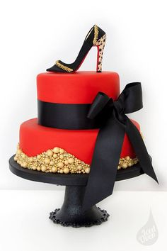 Red Louboutin Inspired Cake | Birthday Cake, Colorful Cakes, Themed Cakes | Beautiful Cake Pictures