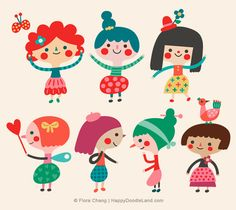 Girls | Flora Chang, Happy Doodle Land