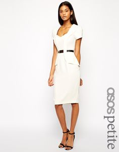 ASOS PETITE Pencil Dress With Metal Belt