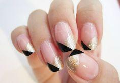 "Geometric, art deco, ""Great Gatsby"" inspired nails #ManiMonday #nailtrends #foundonPinterest"