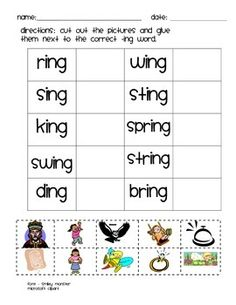 ING Word Family Activities | Activities, Word families and Word ...