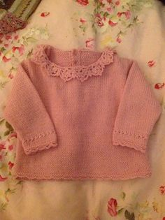 Pattern is from the latest Bergere De France layette book and knit using their Ideal wool