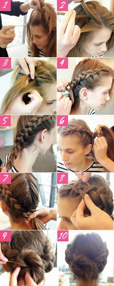How to Chic: DOUBLE BRAIDED BUN - TUTORIAL