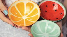 Hey guys! In this video I'm going to show you how to make watermelon, orange, lime/lemon bowls out of clay! This is the perfect summer project, since they ar...