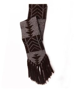Take a look at this Brown North American Tassel Scarf - Women by MUK LUKS on #zulily today!