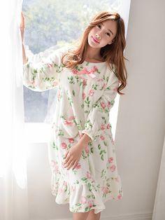 Banibella winter sleepwear / rose mink sleepwear / cozy and comfortable / winter pajamas