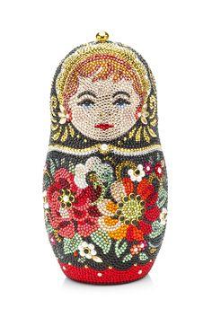 Matryoshka clutch by Judith Leiber Matryoshka Doll, Beaded Purses, Judith Leiber, Vintage Purses, Cute Bags, Party Fashion, Evening Bags, Dolls, Beautiful Bags