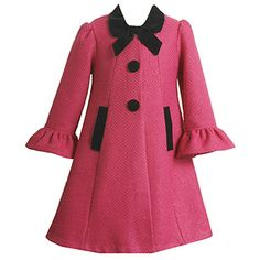 princess style coat with ruffled arms, peter pan collar and knot