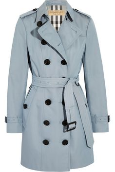 Part of the Burberry Heritage collection Sky-blue cotton-gabardine Button fastenings through double-breasted front 100% cotton Dry clean Designer color: Pale Sky Blue