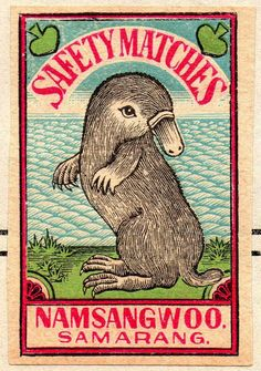 Matchbox label from India circa 1930