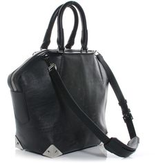 ALEXANDER WANG Leather Small Emile Black NEW