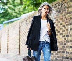 13+Ways+to+Style+a+$10+White+T-Shirt+via+@WhoWhatWear