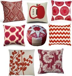 i want to do my living room in red and black
