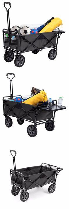 Wheelbarrows Carts and Wagons 75671: Gray Folding Wagon Mac Sports Wagon Beach Cart Bonus Collapsible Table No Tax -> BUY IT NOW ONLY: $125.99 on eBay!